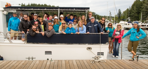 Family Reunion or other event? Charter a private whale watch tour with San Juan Island Outfitters