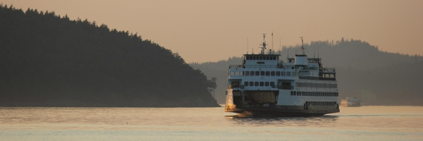 Travel to San Juan Island using the Washington State Ferry system