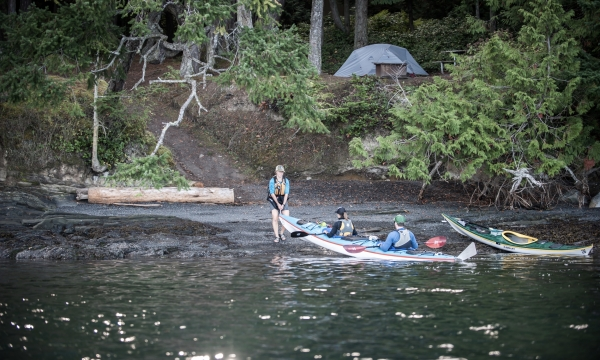 Kayak Camp on Stuart or Jones Island near San Juan Island