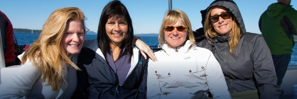 Whale Watch with friends and family with San Juan Island Outfitters