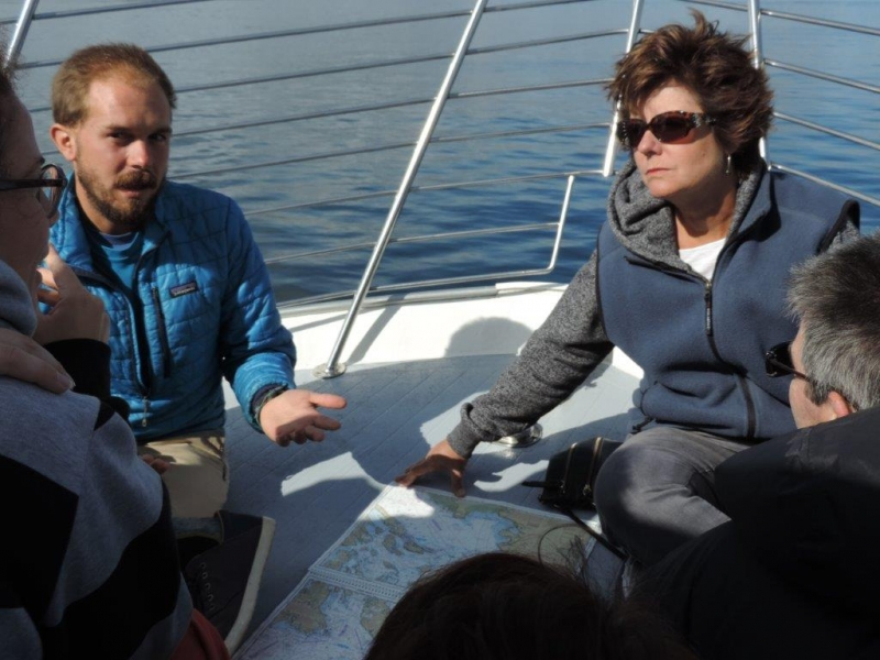 Whale Watch Naturalist with Make a Wish Foundation guest with San Juan Island Outfitters