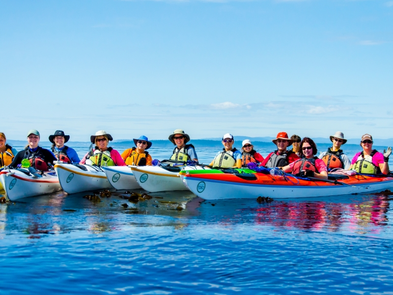 Come kayaking with your large group on San Juan Islands kayak tours