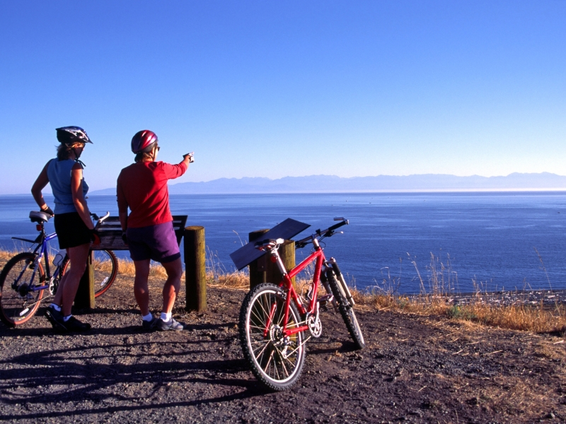 Road bike along the San Juan Island Scenic Byway