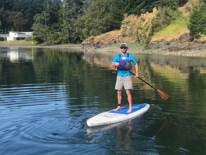 Rent a paddle board from Roche Harbor on San Juan Island
