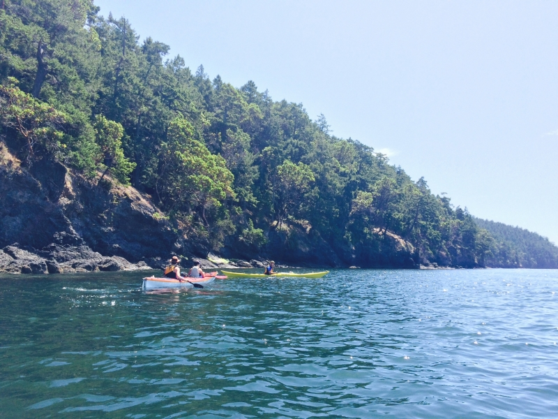 Kayaking tour by San Juan Island from Roche Harbor