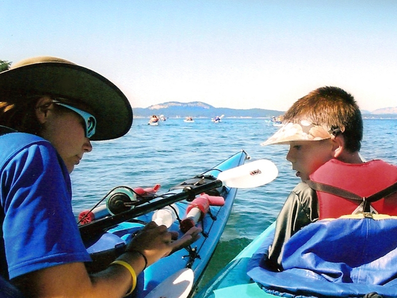 Kids enjoying one of San Juan Islands Kayak Tours