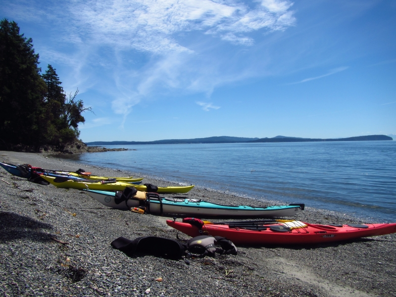 Explore hidden beaches on our kayak tours around San Juan Island