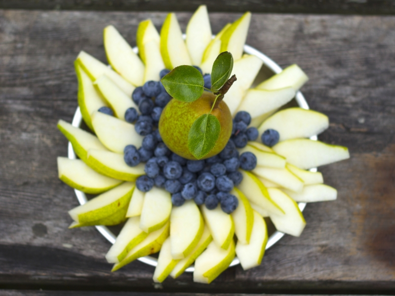 Fresh fruit provided on kayak tours in the San Juan Islands