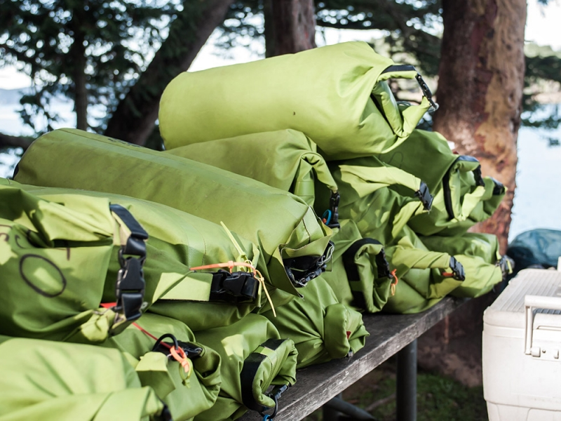 All gear is provided on our kayak camping tours in the San Juan Islands