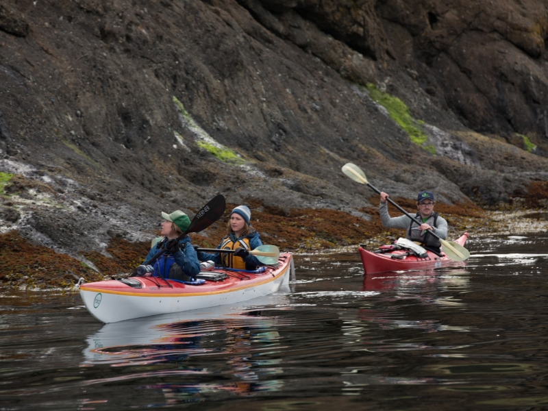 Sea kayak with San Juan Outfitters in the San Juan Islands. Explore remote islands