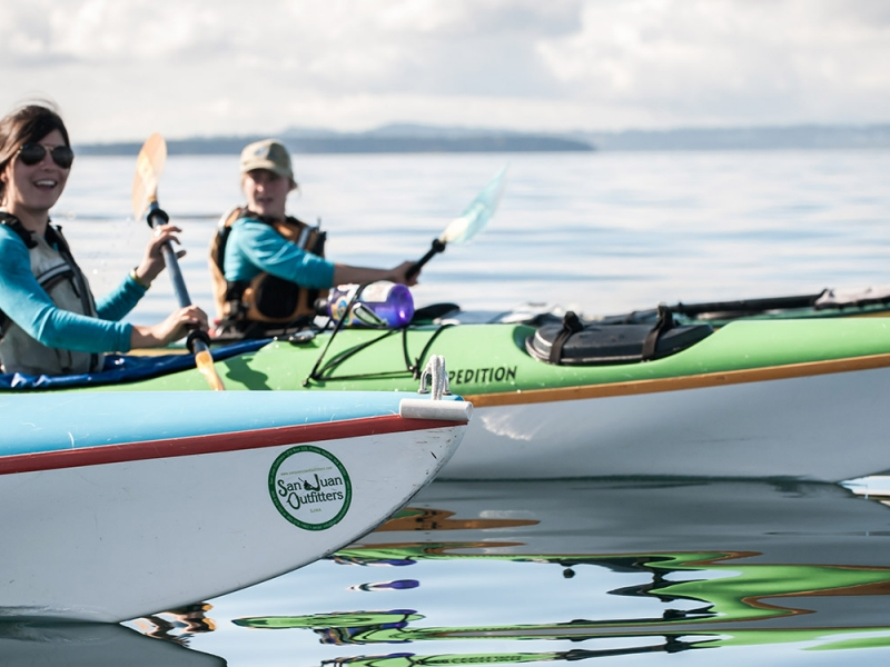 Take a kayak adventure with San Juan Island Outfitters in the Salish Sea