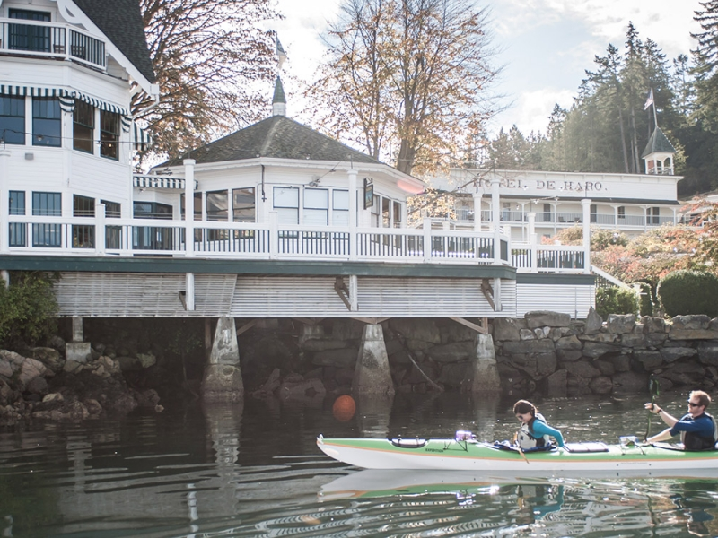 San Juan Outfitters kayak tours depart from Friday Harbor, Roche Harbor, as well as San Juan County Park