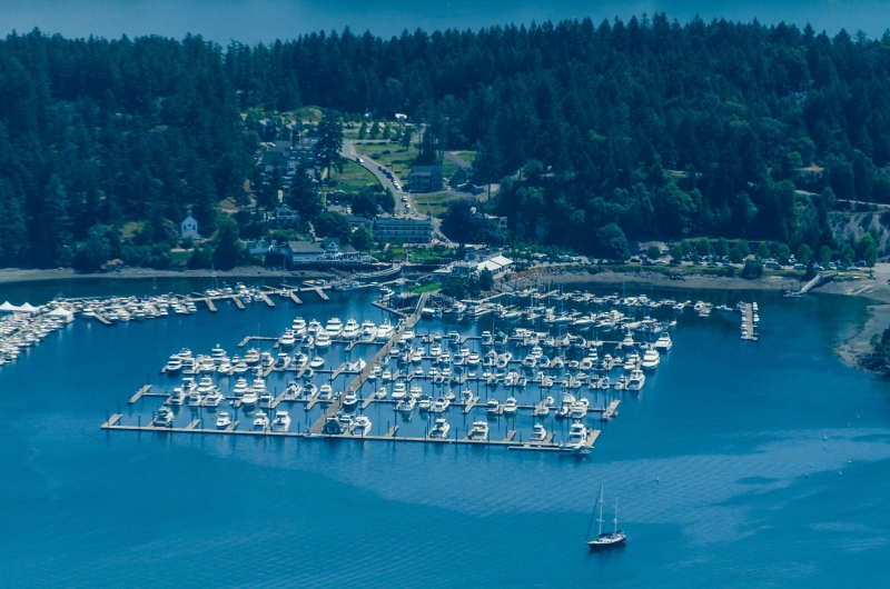 Roche Harbor Marina is your first step on a kayaking and whale watching adventure