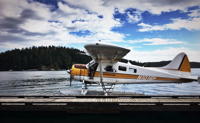 Kenmore Float Plane in Friday Harbor from downtown Seattle