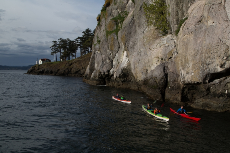 Group setting out to kayak the San Juan Islands