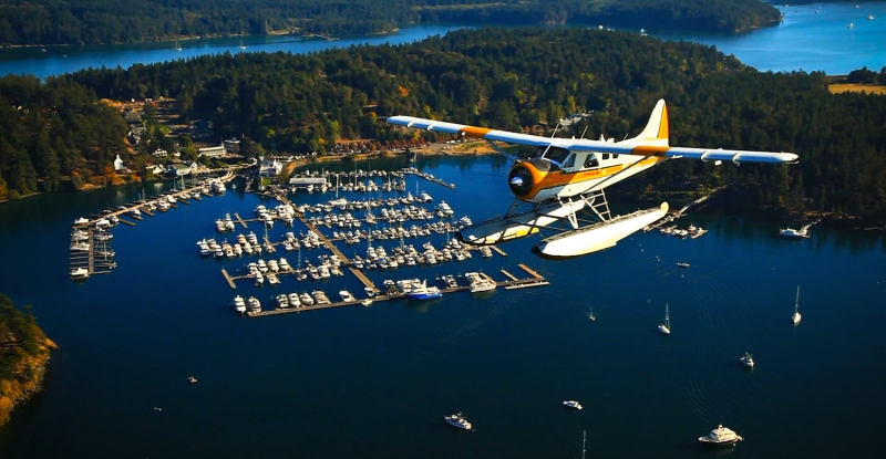 Fly to San Juan Island on a seaplane from Seattle