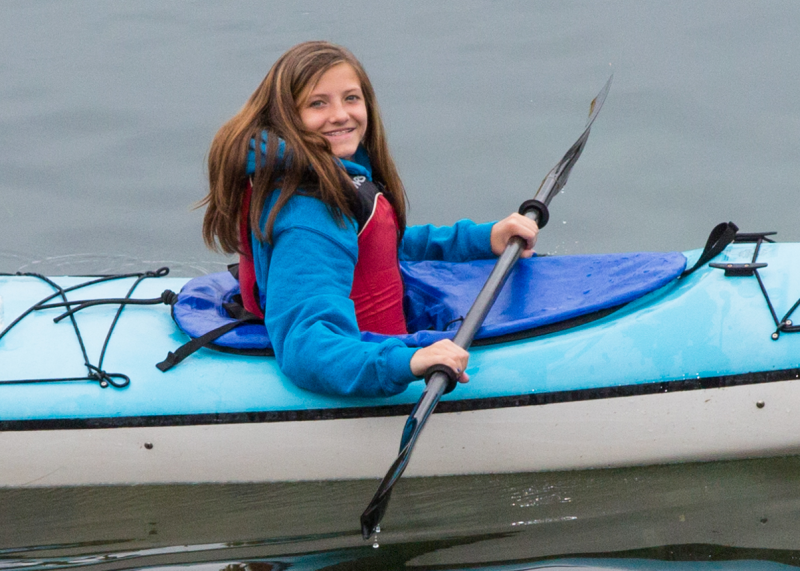 Fun for the whole family - adults and children - while kayaking the San Juan Islands