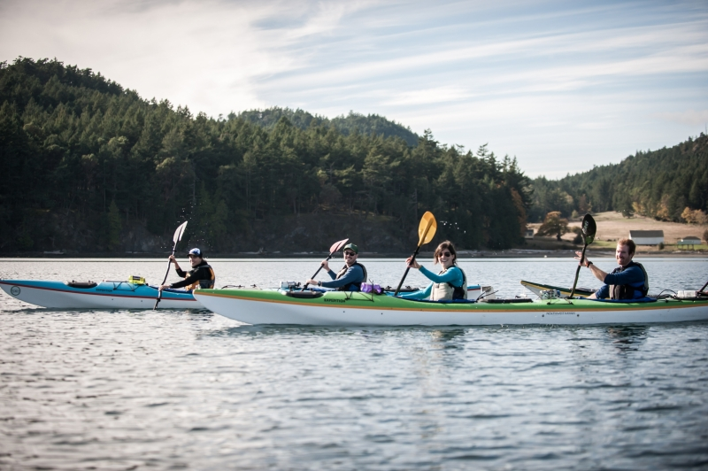 Sea Kayaking from Roche or Friday Harbor lets you see the best of the San Juan Islands
