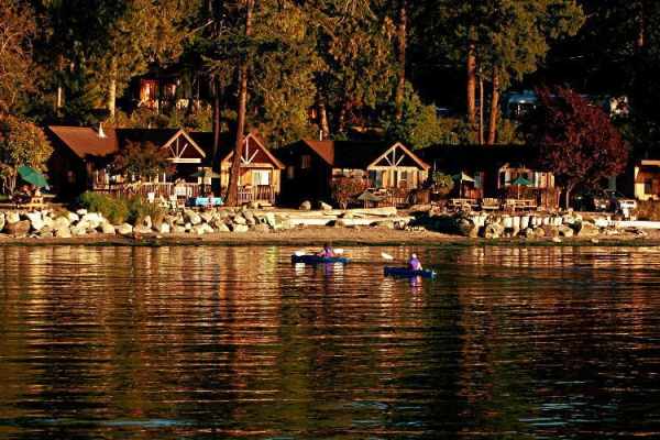 West Beach Resort view from water