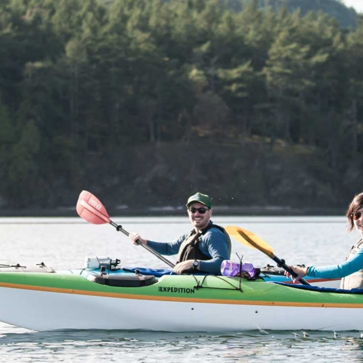 Fly and kayak around San Juan Island